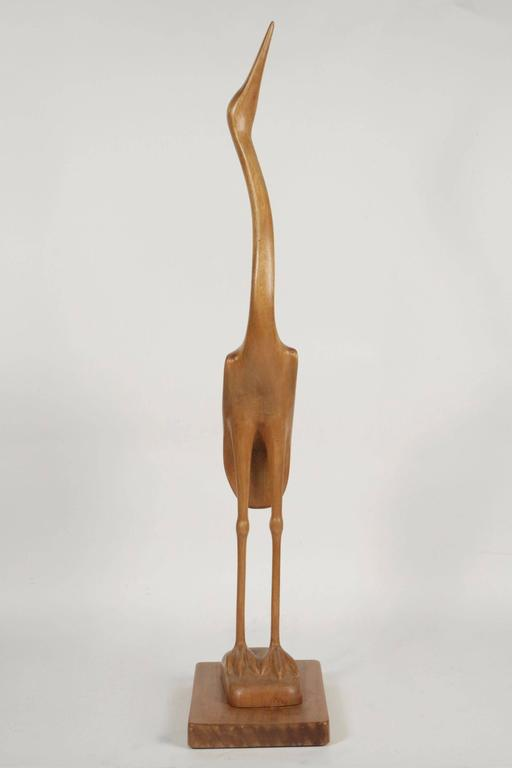Swedish Unique Heron Sculpture by Sakari Pykälä, 1962 For Sale