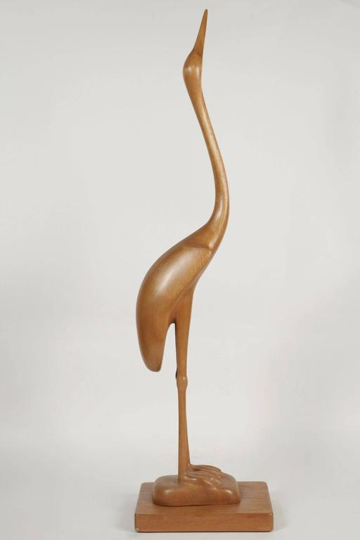 Unique Heron Sculpture by Sakari Pykälä, 1962 In Good Condition For Sale In Saint-Ouen, FR