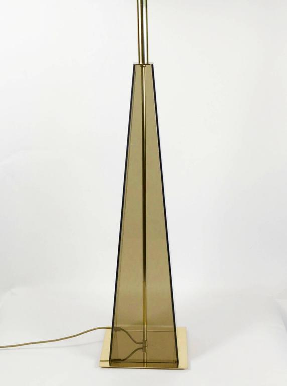 Elegant floor lamp made to measure in the 1970s.