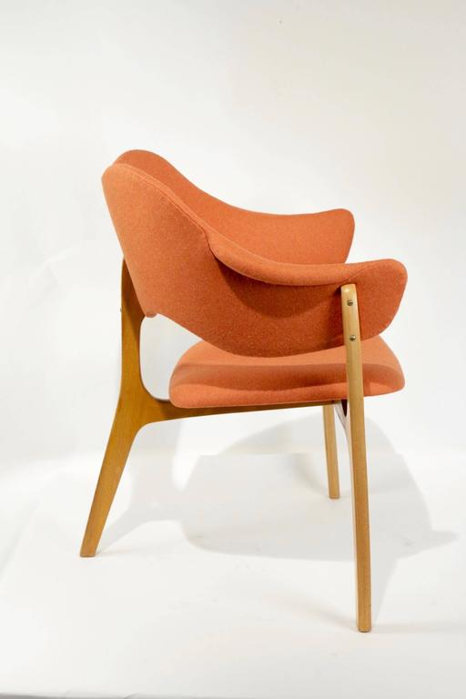 1954s Kjell Hjall and Bjarne Stave Pair of Armchair Edition More Lenestolfabrikk 3