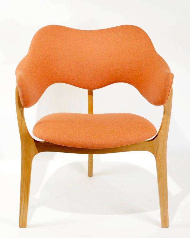 1954s Kjell Hjall and Bjarne Stave Pair of Armchair Edition More Lenestolfabrikk 5