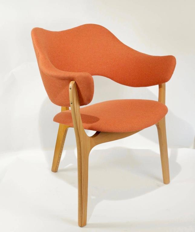 1954s Kjell Hjall and Bjarne Stave Pair of Armchair Edition More Lenestolfabrikk 4