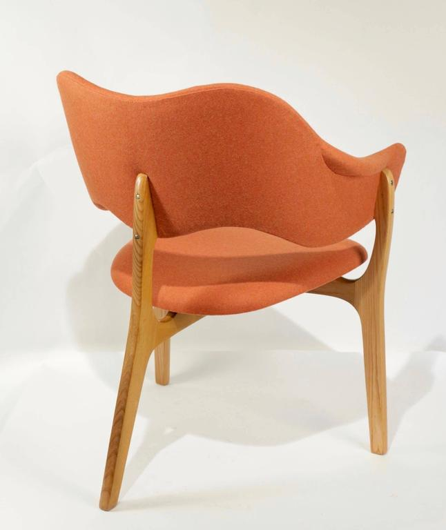 1954s Kjell Hjall and Bjarne Stave Pair of Armchair Edition More Lenestolfabrikk 6