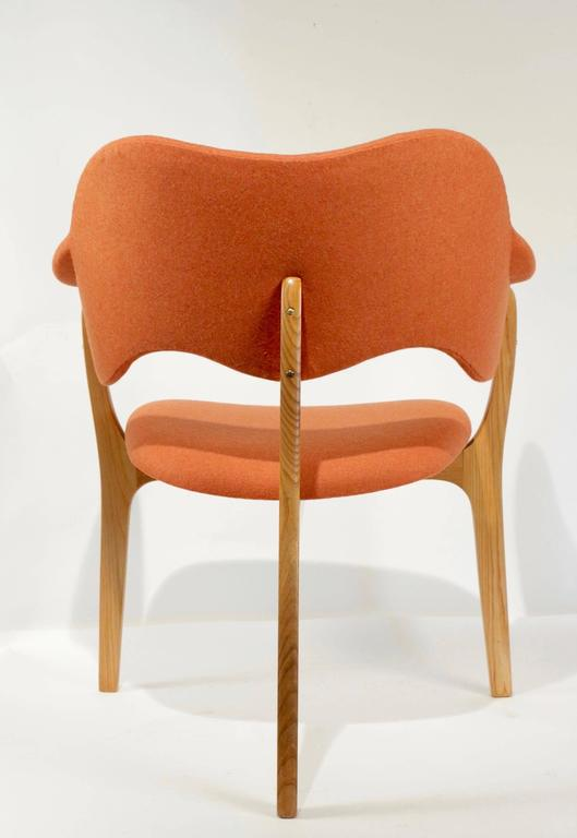 1954s Kjell Hjall and Bjarne Stave Pair of Armchair Edition More Lenestolfabrikk 7