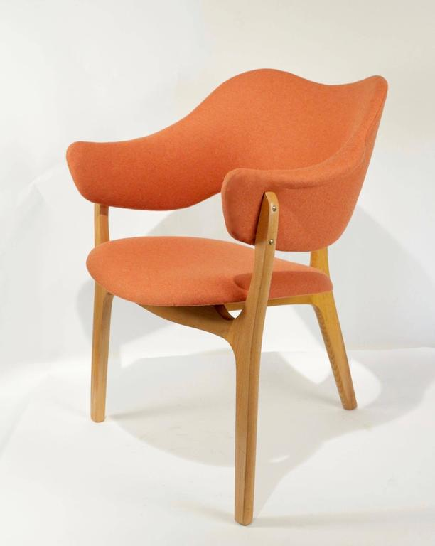 1954s Kjell Hjall and Bjarne Stave Pair of Armchair Edition More Lenestolfabrikk 8
