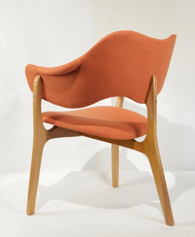 1954s Kjell Hjall and Bjarne Stave Pair of Armchair Edition More Lenestolfabrikk 9