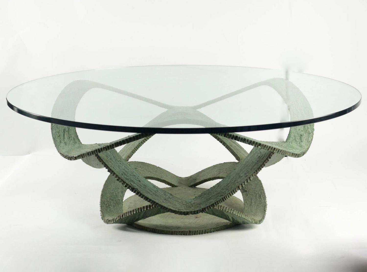 1960 Brutalist Coffee Table In Wrought Iron Verdigris Patina For Sale At 1stdibs