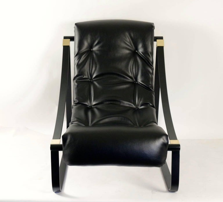 1970s Pair of Black Lounge Chairs For Sale 1