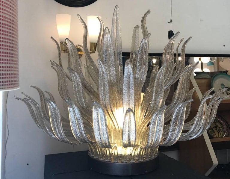Modern Italian Murano Glass Table or Floor Lamp, 1980s For Sale