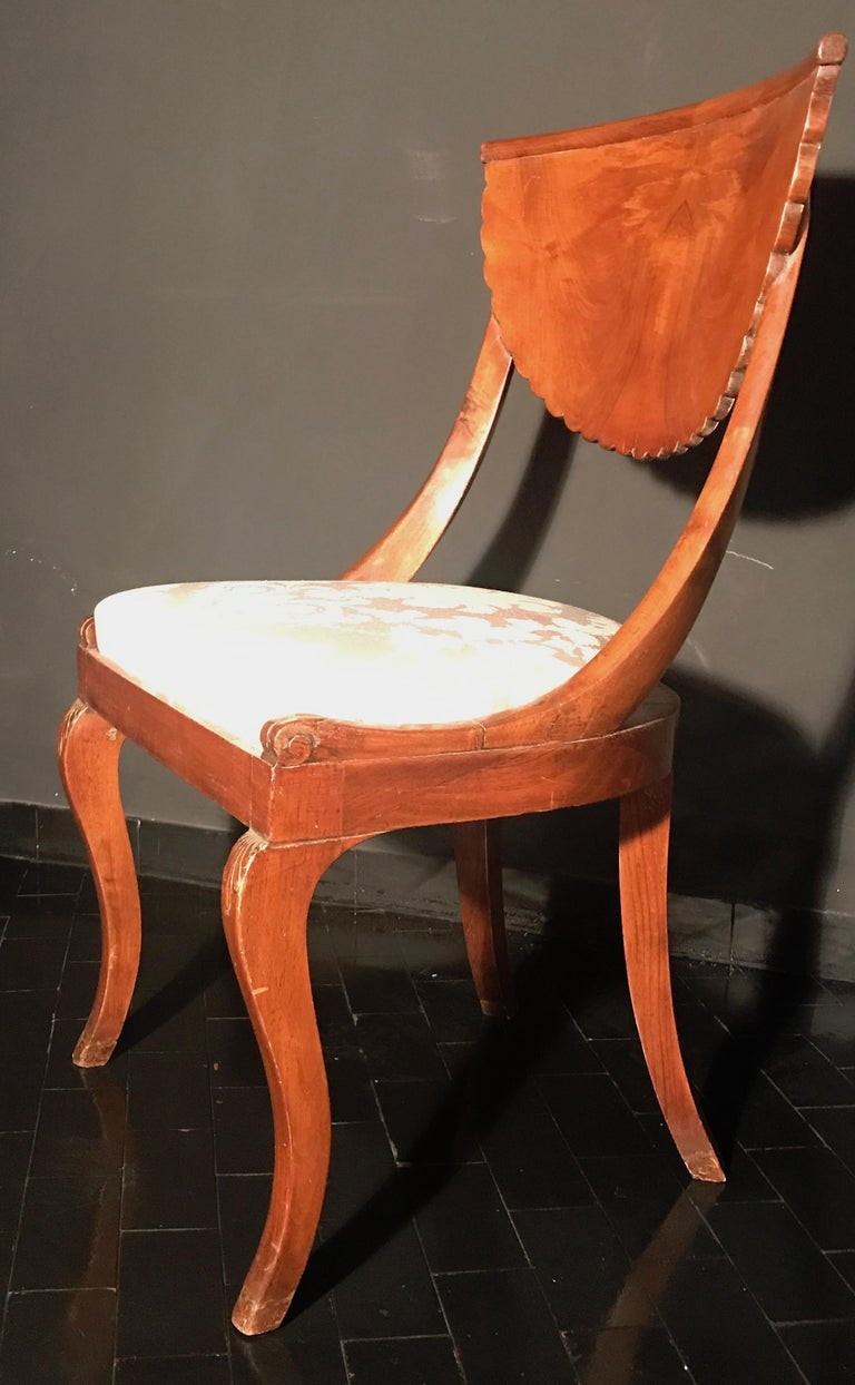 Set of Eight Italian Chairs and a Pair of Armchairs For Sale 3