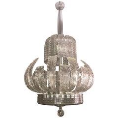 Fabulous Art Deco Tiffany & Co. Chandelier by Ercole Barovier