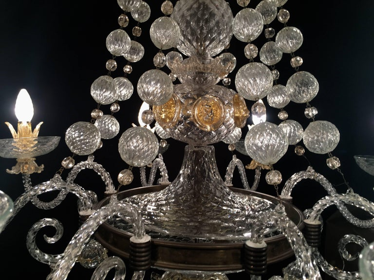 Overwhelming Murano Glass Chandelier by Barovier & Toso, 1960s For Sale 2