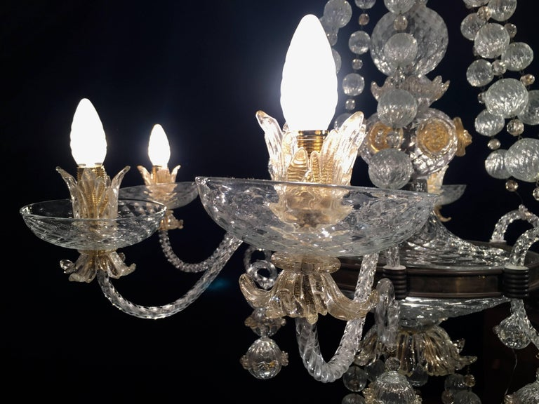 Overwhelming Murano Glass Chandelier by Barovier & Toso, 1960s For Sale 5