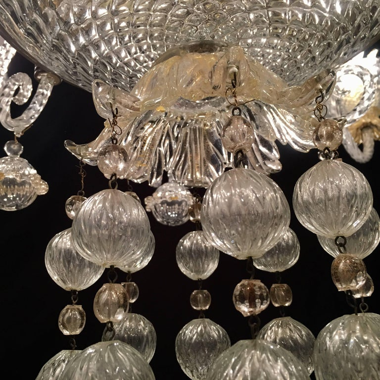 Overwhelming Murano Glass Chandelier by Barovier & Toso, 1960s For Sale 6