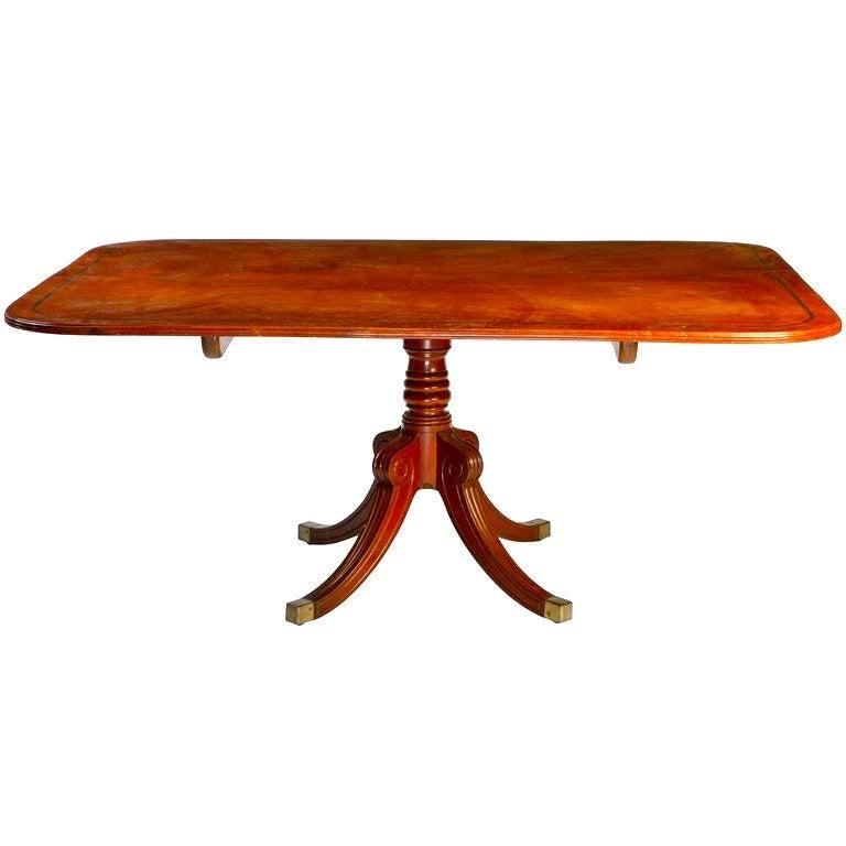 English 19th Century Regency Mahogany Breakfast Table