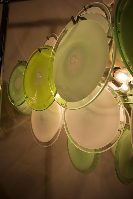 Murano Disc Chandelier by Vistosi 1970s For Sale 2
