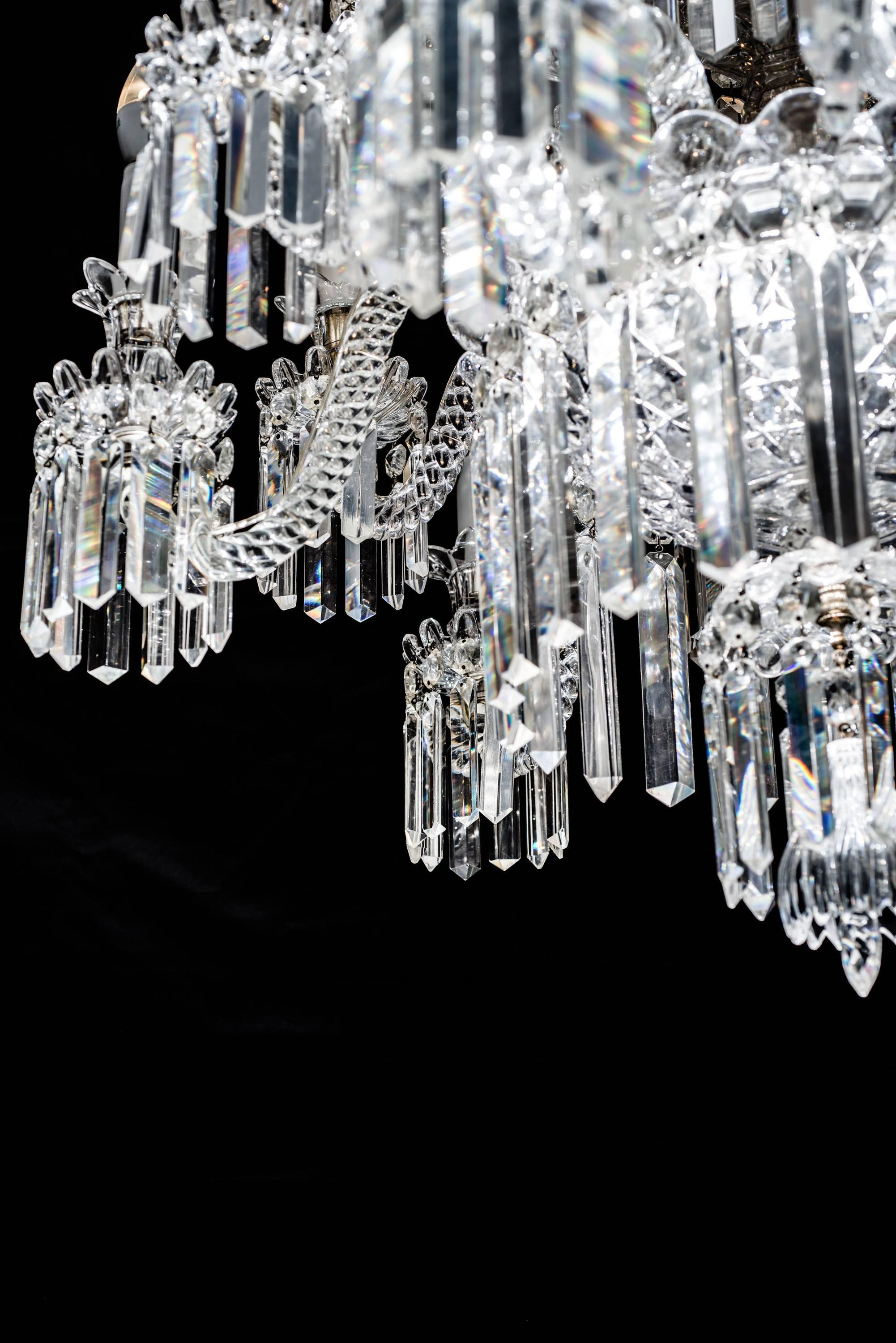 Important Crystal Chandelier of Baccarat France 1850s For Sale at 1stdibs : baccarat lighting - www.canuckmediamonitor.org