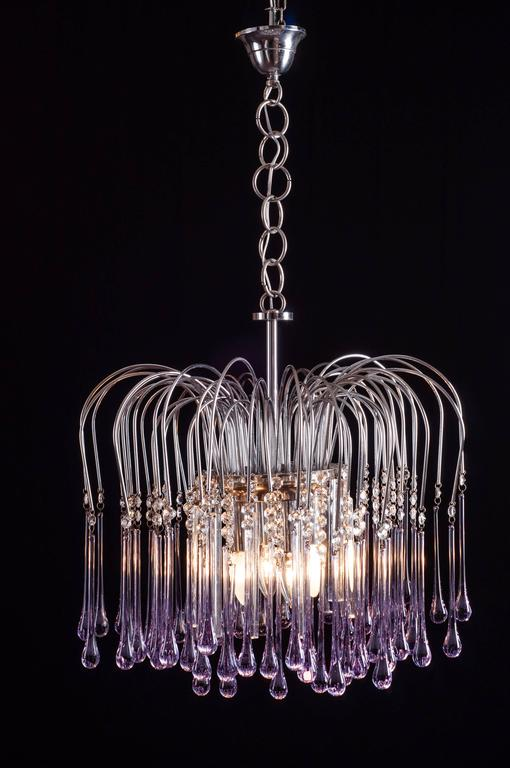 Murano Chandelier by Venini, 1960s For Sale 3