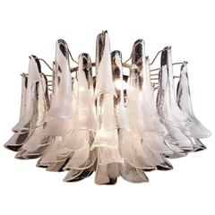 Fabulous Chandelier Composed of 50 Petals Murano Glass