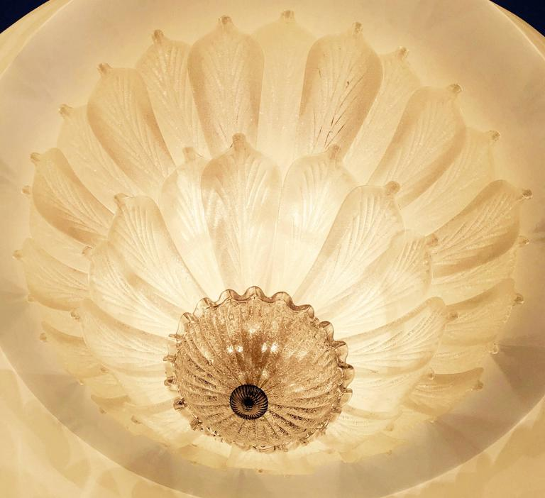 European Three Large Murano Ceiling Lights, 1990s For Sale