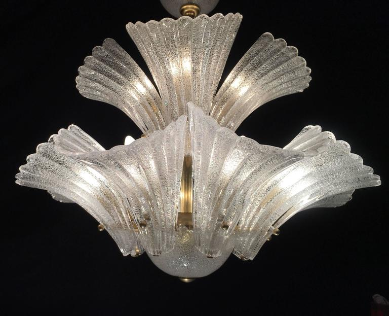 Murano Chandelier in style Barovier & Toso, 1950s 2