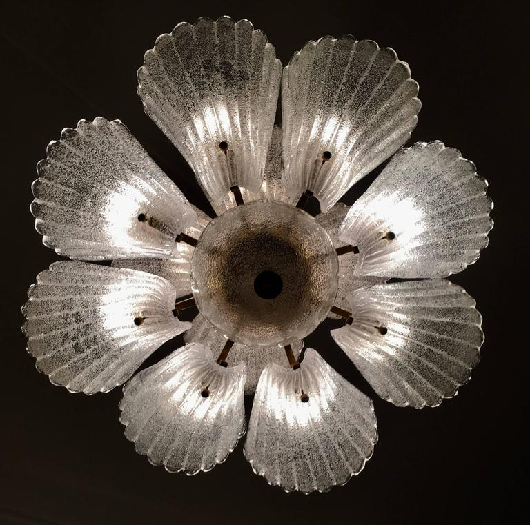 Murano Chandelier in style Barovier & Toso, 1950s 5