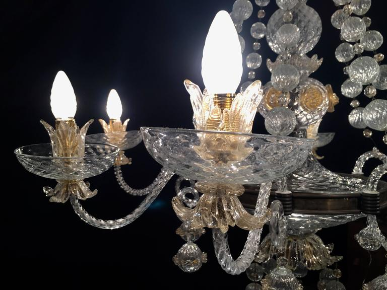 Overwhelming Murano Chandelier By Barovier And Toso 1960s