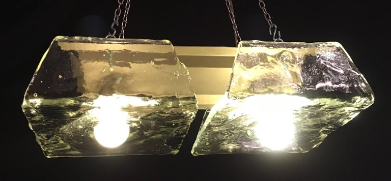 Pair of Murano Pendants of Murano by Nason for Mazzega, 1970s In Excellent Condition For Sale In Rome, IT