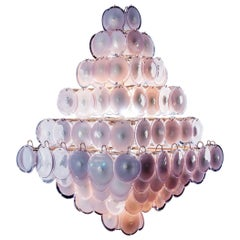 Majestic Chandelier Amethyst Italian Design by Gino Vistosi, 1970s