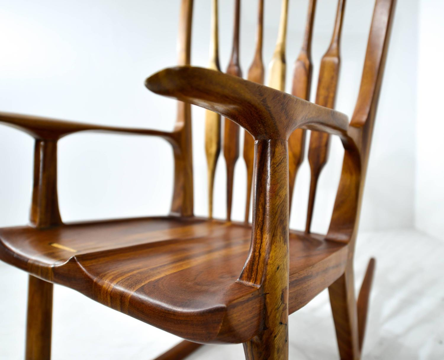 Rocking Chair, in the Manner of Sam Maloof For Sale at 1stdibs