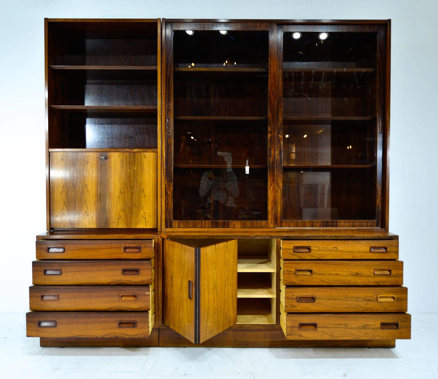 Rosewood Modular Bookcase Made In Denmark At 1stdibs