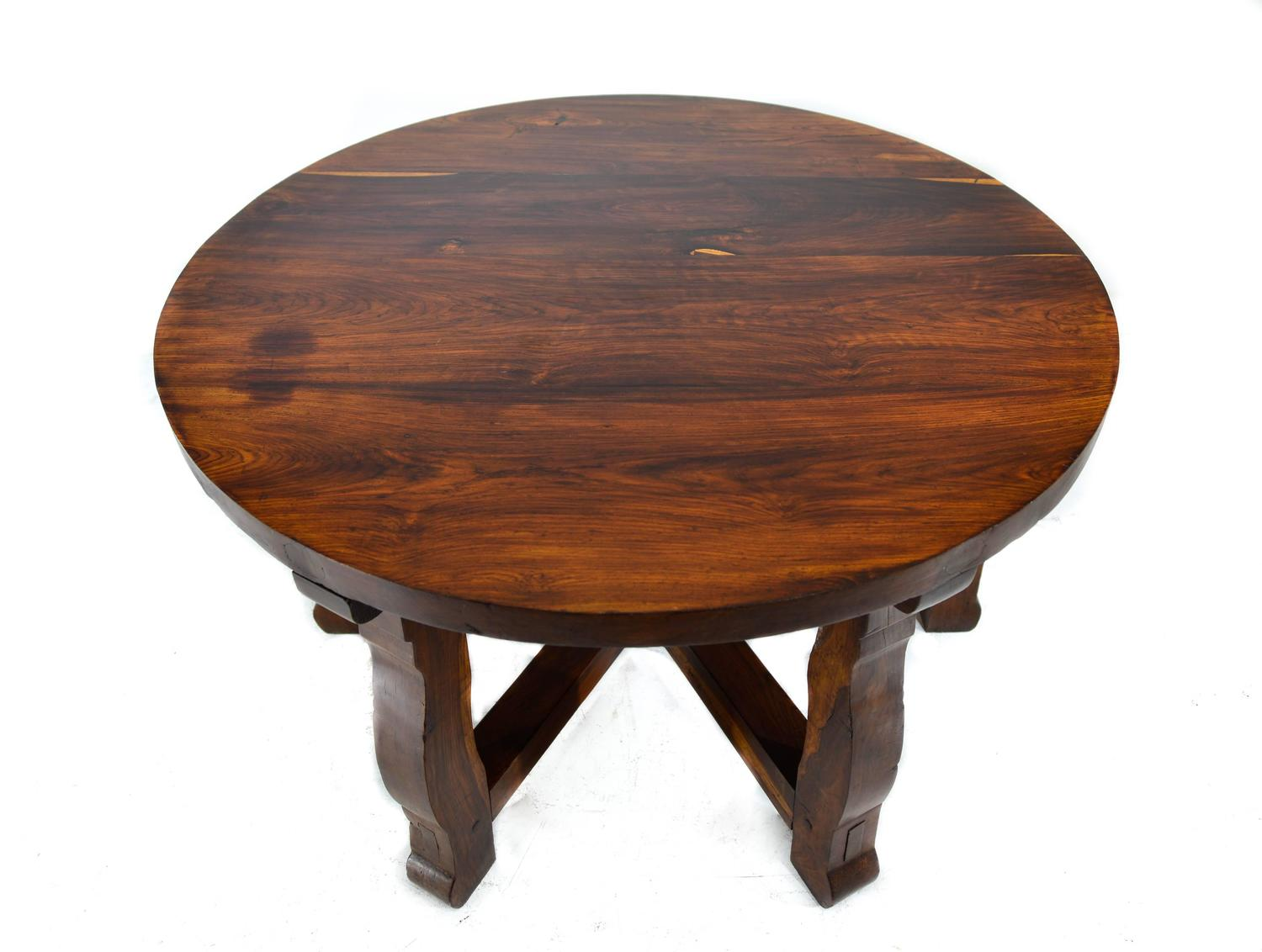 meza tropical wood round table for sale at 1stdibs