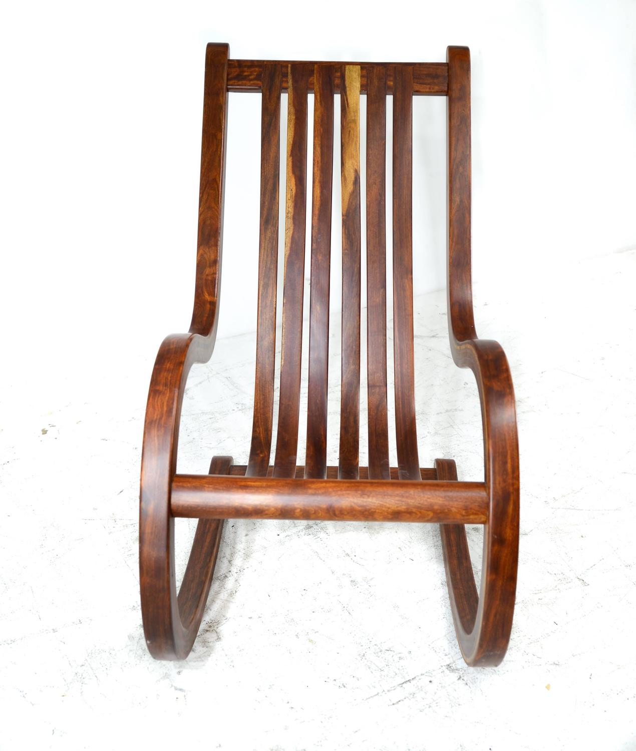 Walnut Rocking Chair For Sale at 1stdibs
