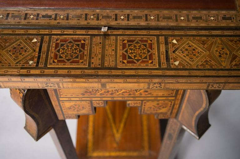 Fine Early 20th Century Inlaid Damascus Games Table For