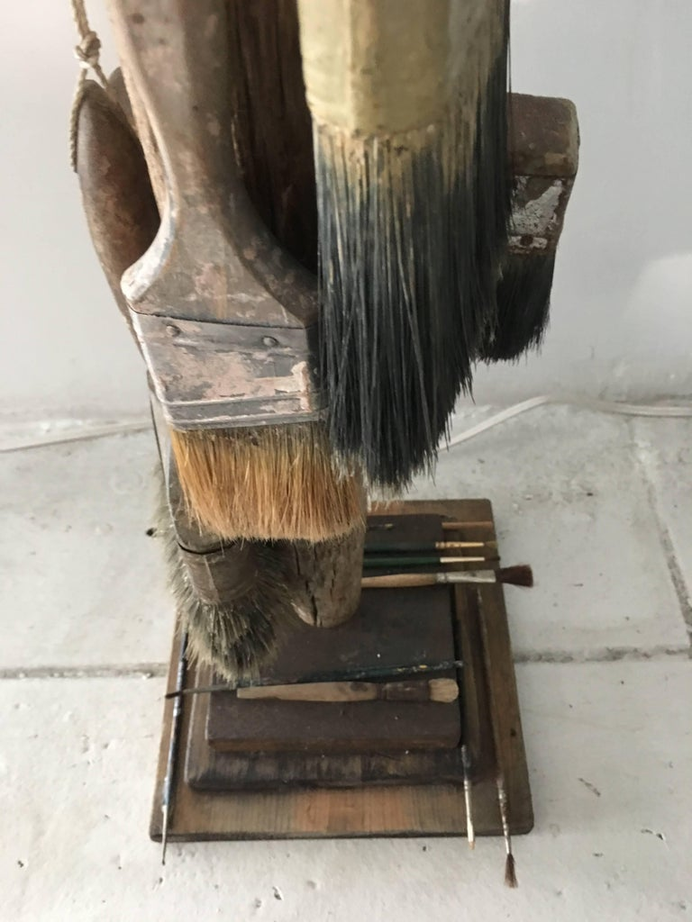 1940s Paint Brushes Sculpture In Good Condition For Sale In Los Angeles, CA