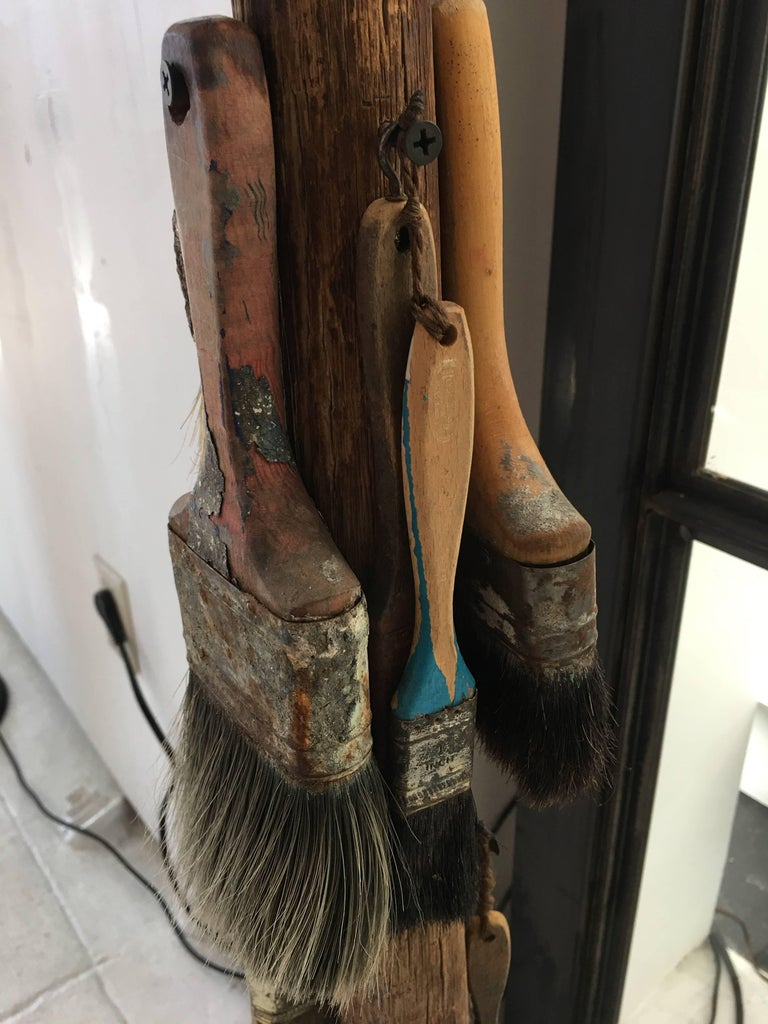 American 1940s Paint Brushes Sculpture For Sale