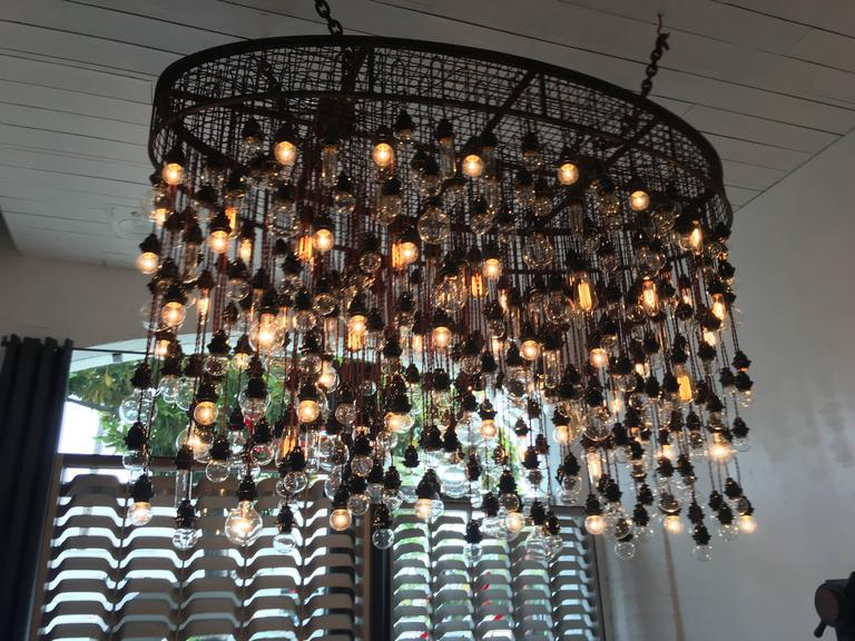 400 Bulbs Industrial Chandelier At 1stdibs