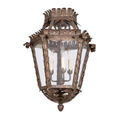 Antique Bronze Hanging Lantern