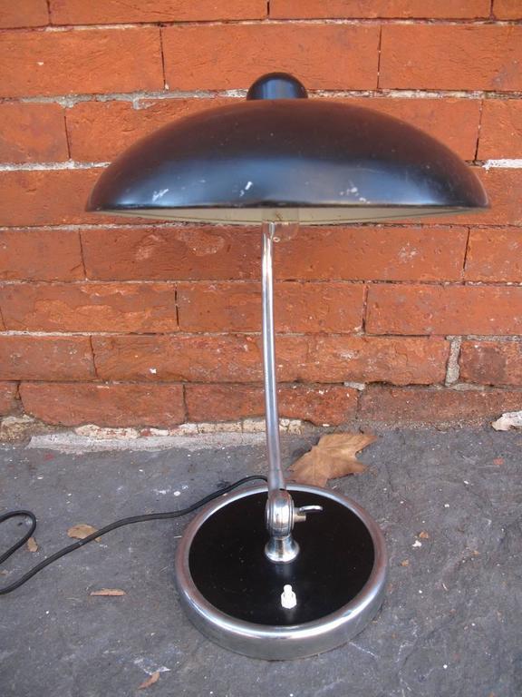 Kaiser Idell Luxus Black Table Lamp At 1stdibs