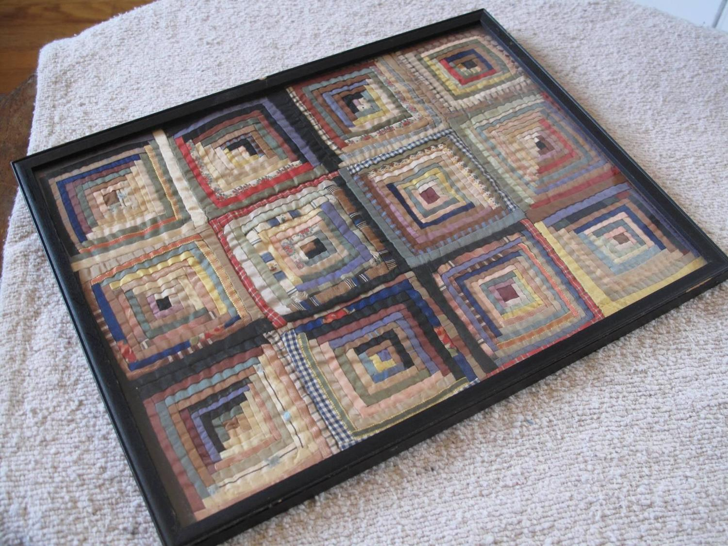 Miniature Framed Courthouse Steps Quilt Fragment For Sale At 1stdibs. Full resolution‎  file, nominally Width 1500 Height 1125 pixels, file with #6B483D.