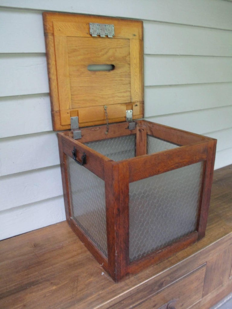 Decorative raffle boxes : American ballot box at stdibs