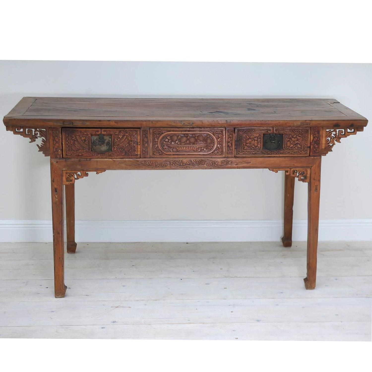Wedding Altars For Sale: Antique Chinese Altar Table With Fine Carvings For Sale At