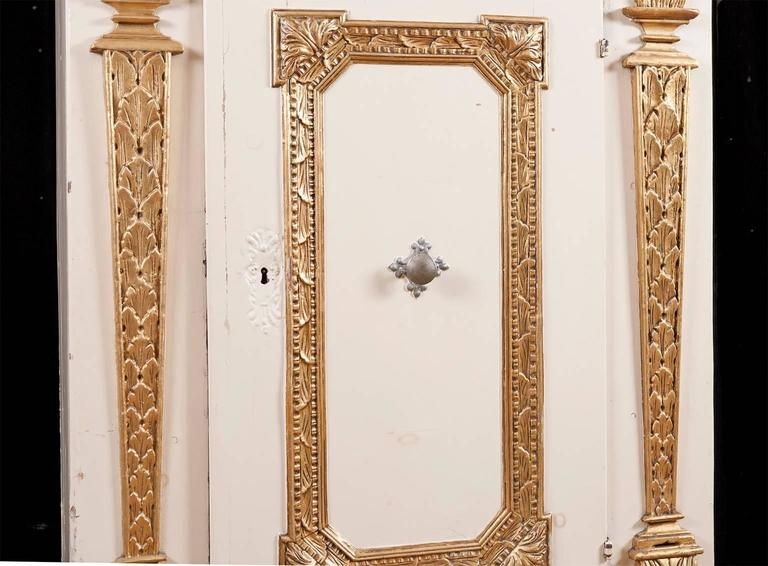 Painted Baroque Single Door Armoire, Scandinavia, circa 1720 4