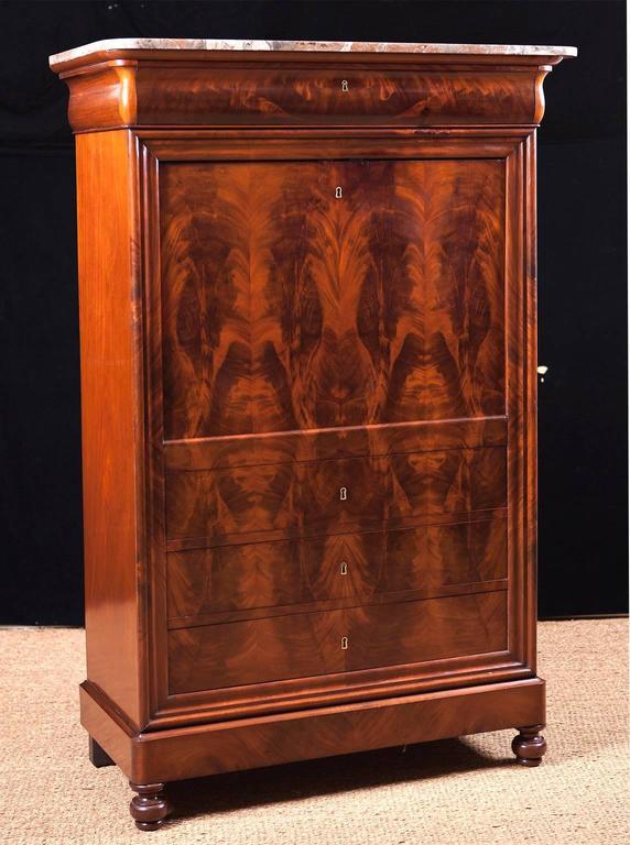 french louis philippe fallfront secretary circa 1835 for. Black Bedroom Furniture Sets. Home Design Ideas