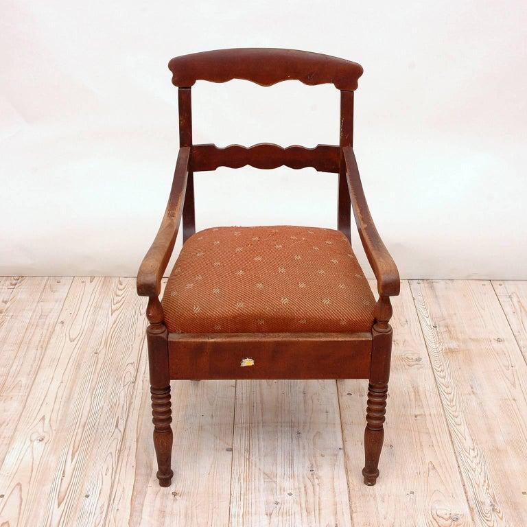 19th Century Collection of Seven Scandinavian Biedermeier/ Empire Armchairs For Sale 2