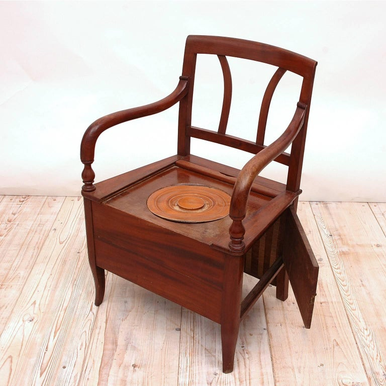 Wood 19th Century Collection of Seven Scandinavian Biedermeier/ Empire Armchairs For Sale