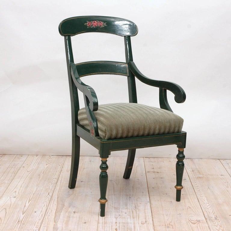 19th Century Collection of Seven Scandinavian Biedermeier/ Empire Armchairs For Sale 4