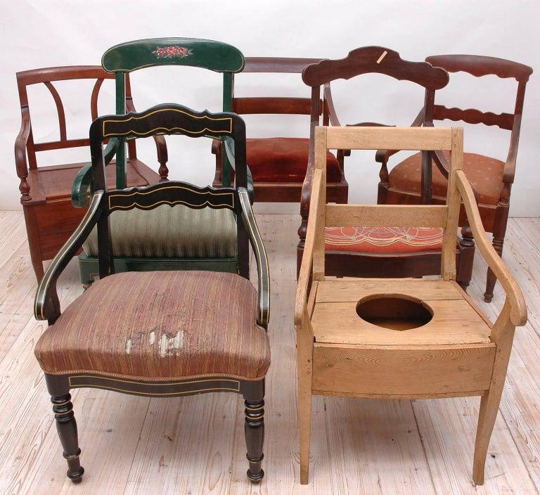 19th Century Collection of Seven Scandinavian Biedermeier/ Empire Armchairs For Sale 6