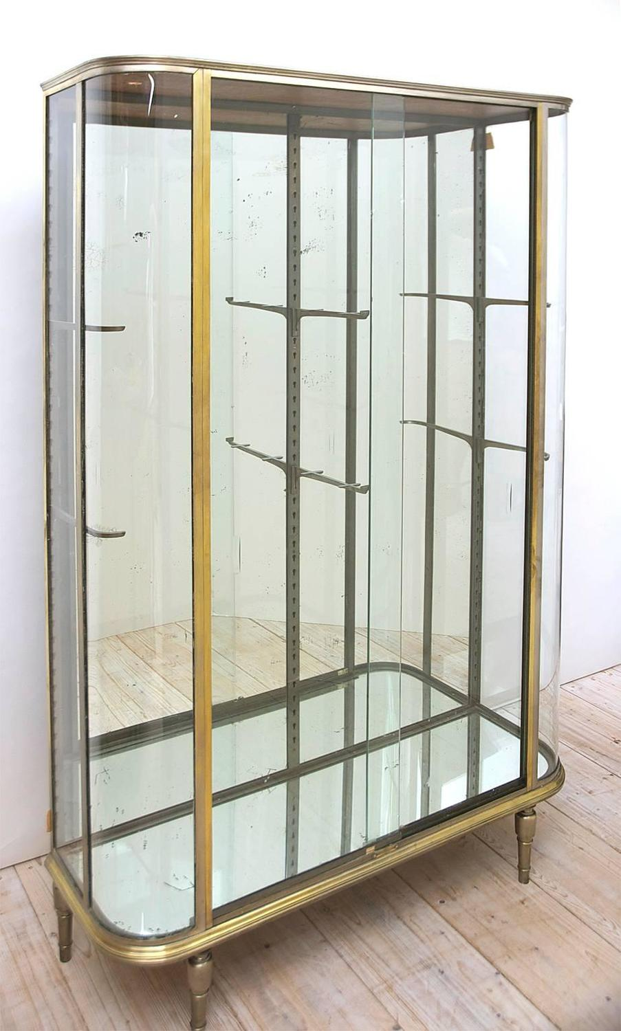 french art deco vitrine or glass cupboard circa 1920 at. Black Bedroom Furniture Sets. Home Design Ideas