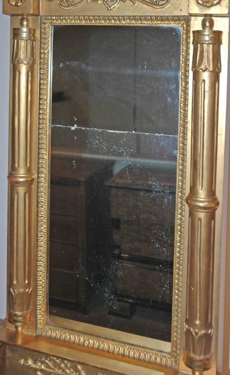 Karl Johan Empire Gilded Mirror With Original Glass